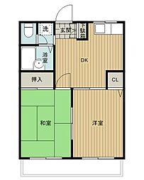 金子マンション五番館[102号室]の間取り