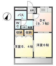 愛知県東海市加木屋町の賃貸アパートの間取り