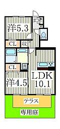 カンチェンジュンガ[1階]の間取り
