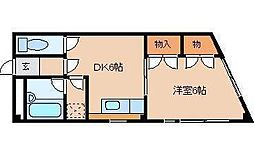 平田マンション[302号室]の間取り