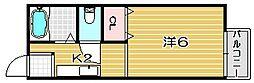 シティハイツ天神[1階]の間取り