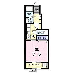 ア・ピアチェーレⅡ[1階]の間取り