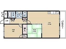 クレセントハイツ鶴見[4階]の間取り