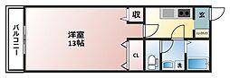 サンパワーマンションIII[1階]の間取り