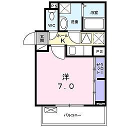 神奈川県大和市下和田の賃貸アパートの間取り