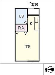 コーポラス・マキ2[1階]の間取り