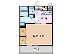 三重県鈴鹿市高岡町の賃貸マンションの間取り