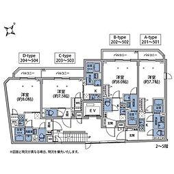 東京メトロ南北線 王子神谷駅 徒歩6分の賃貸マンション 4階1Kの間取り