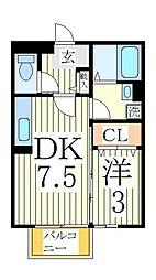 シェル・ドゥ[1階]の間取り