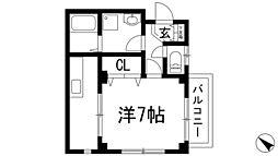 小戸日進ビル[3階]の間取り