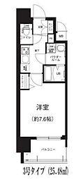 Osaka Metro谷町線 谷町六丁目駅 徒歩8分の賃貸マンション 13階1Kの間取り