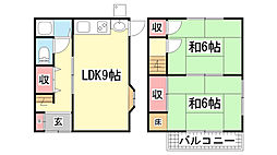 [一戸建] 兵庫県神戸市長田区西山町4丁目 の賃貸【/】の間取り