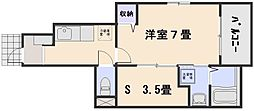グラシオッソーレII[1階]の間取り