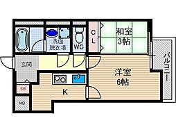 K-FLAT[3階]の間取り