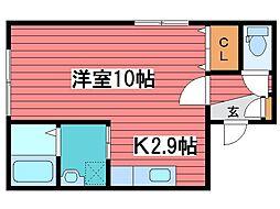 HOPE月寒中央 C棟[2階]の間取り