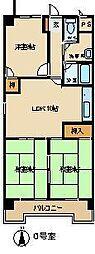 ノーサイドマンション[201号室]の間取り