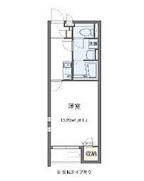 Osaka Metro今里筋線 瑞光四丁目駅 徒歩13分の賃貸アパート 2階1Kの間取り