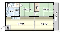 メゾンソレイユ2[2階]の間取り