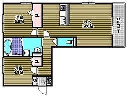 Villa Pino 美原[2階]の間取り