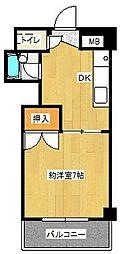 ロイヤルパレス片江[4階]の間取り