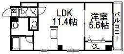 プライムコート北円山[301号室]の間取り