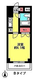 ウイングマンション[402号室]の間取り