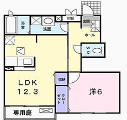 かのんII[1階]の間取り