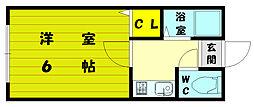 コーポ梅木[1階]の間取り