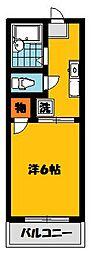 ベルゾーネ田村C[2階]の間取り