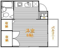 東京都葛飾区立石8丁目の賃貸アパートの間取り