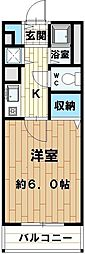 クレスト花野[105号室]の間取り