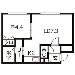 ブランスターレN26[4階]の間取り