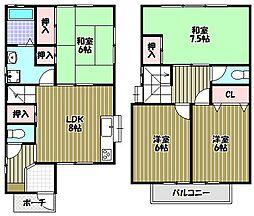 [一戸建] 大阪府富田林市中野町2丁目 の賃貸【/】の間取り