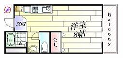 大阪府吹田市山田東3丁目の賃貸マンションの間取り