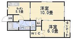M2[105号室号室]の間取り