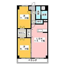 サンフォレスト MW[4階]の間取り