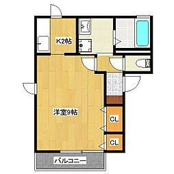 マンション澤[1階]の間取り
