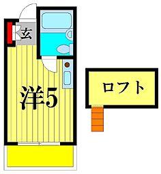 サニーフラット松戸[1階]の間取り