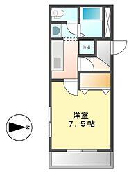 愛知県名古屋市中村区下米野町2丁目の賃貸マンションの間取り