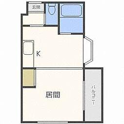 北海道札幌市北区北三十一条西3丁目の賃貸マンションの間取り