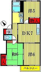 クローバーハウス[2階]の間取り