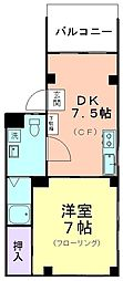 浅川マンション[402号室]の間取り