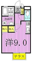 TOWN−A[201号室]の間取り