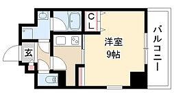 愛知県名古屋市昭和区広見町6丁目の賃貸マンションの間取り