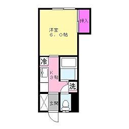 メゾン姉崎[105号室]の間取り