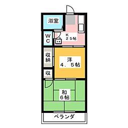 メゾンコエドA[2階]の間取り