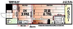 No.47 PROJECT2100小倉駅[9階]の間取り
