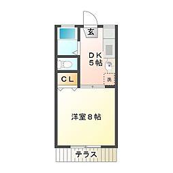 シティライフ桜橋[102号室]の間取り