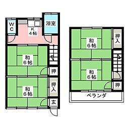 芳賀アパート[1階]の間取り