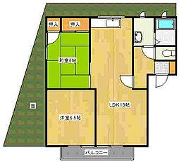 広島県広島市南区向洋新町2丁目の賃貸アパートの間取り